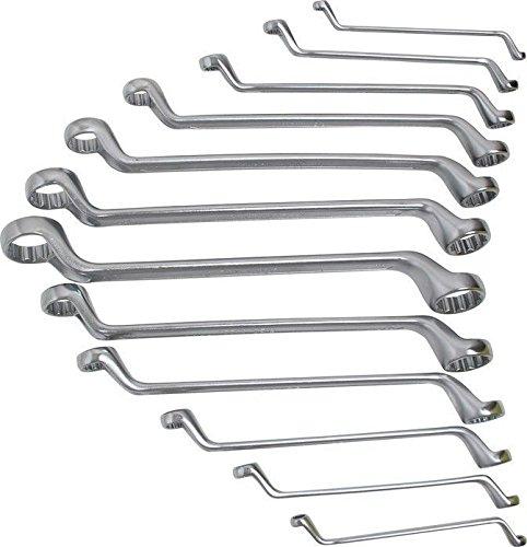 BGS 30200 | Doppel-Ringschlüssel-Satz | gekröpft | SW 6 - 32 mm | 12-tlg.