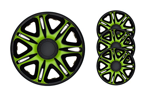 4pc-set-wheel-trims-wheel-covers-hub-caps-barracuda-nascar-green-black-14-inch