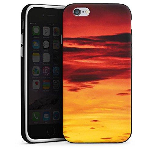 Apple iPhone X Silikon Hülle Case Schutzhülle Abendrot Wolken Sonnenuntergang Silikon Case schwarz / weiß