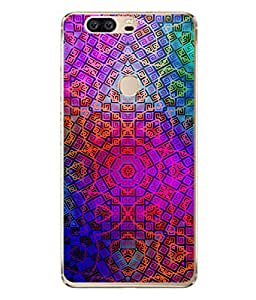 PrintVisa Illusive Continuous Monochrome Colorful High Gloss Designer Back Case Cover for Huawei Honor V8