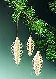 6 Spanzapfen, Höhe 8 cm – Baumschmuck – Baumbehang – Christbaumschmuck – Holz – Weihnachtsbaumschmuck - Erzgebirge NEU