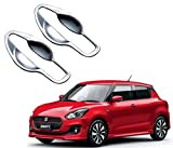 #10: Auto Pearl - Premium Quality Car Chrome Handle Bowl Cover for - Maruti Suzuki Swift 2018 (2Pcs.)