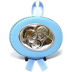 Médaille Berceau bébé | | | Argent Sainte famille avec la méthode PVD | athelier