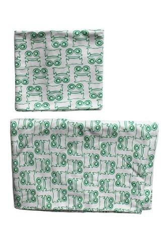 Green Cotton Freds World Babybettwäsche Frogs Frosch WADIE grün 40 x 60 100 x 135 cm - Frösche Baby-bettwäsche-sets
