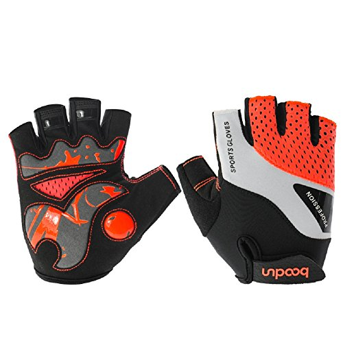 UniEco Fahrradhandschuhe Halbfinger Herren Damen Fitness Handschuhe Atmungsaktiv Rutschfestes Gepolstert Sommer Handschuhe