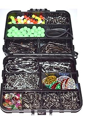 Generic .. s hooks in Tackle bit box swivels crim Sea Fishing Tackle Sea Fis bit box n Tackle Set Boxed Tack swivels crimps hooks by Generic