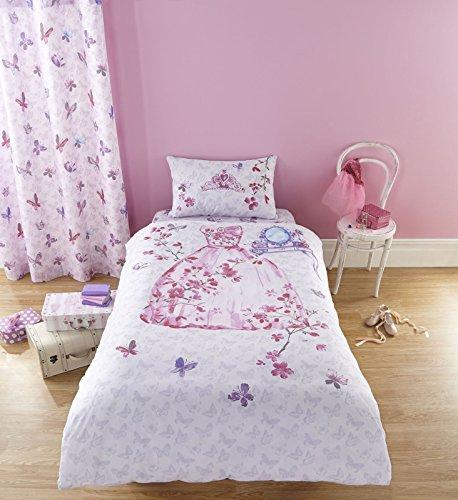Copripiumino set trapuntato per bambine colore rosa - Singolo