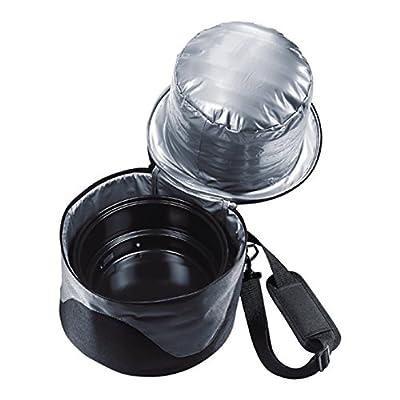"""elasto Campinggrill Picknickset mit Holzkohlegrill """"BBQ"""" Tragbarer Grill Reisegrill Holzkohle mit Kühltasche Isoliertasche"""
