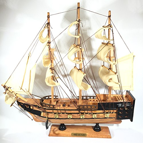 art-home-wooden-sailing-boat-with-galion-figurine-hand-crafted-34-cm