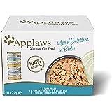 Applaws 100% Natural Wet Cat Food, Multipack de Pescado y Pollo Selección en latas de 70 g (Paquete de 4, 48 latas en Total)