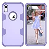 Forhouse Phone Hülle für iPhone Xr Hülle Phone case Boys Back Bumper Cover [ Purple ]