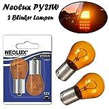 2x Neolux PY21W 12V BAU15s N581-02B Orange Blinker vorne hinten Seitenblinker Ersatz Halogen Auto Lampe E-geprüft