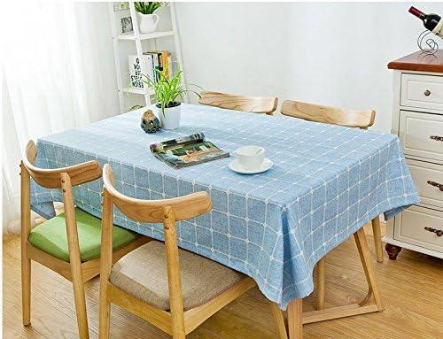 60120 cm blu Checker minimalista scandinavo moderno moderno moderno Instagram Garden picnic rettangolare da pranzo tovaglia in cotone lino quadrato eco-friendly copre B076D69LFV Parent | moderno  | economia  | Qualità Primacy  c7cbba