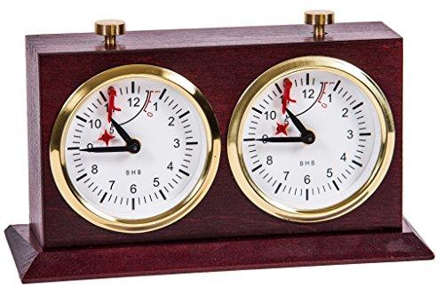 BHB Special Exclusive Reloj de Ajedrez Analógico Mecánico Caoba oscuro