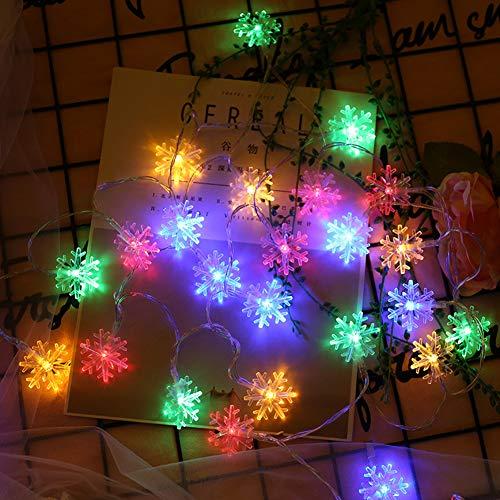 euchtet Schneeflocke 1.5M / 5Ft 10 LED-Schnur-Lichter Für Festival, Partei, Hochzeit, Innen-, Garten-Dekor,Natural,1.5M ()