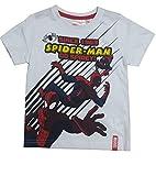 Marvel Spiderman Jungen White Top T - Shirt Alter 8 Jahre
