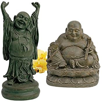 kretakotta lachender buddha mit erhobenen h nden garten. Black Bedroom Furniture Sets. Home Design Ideas
