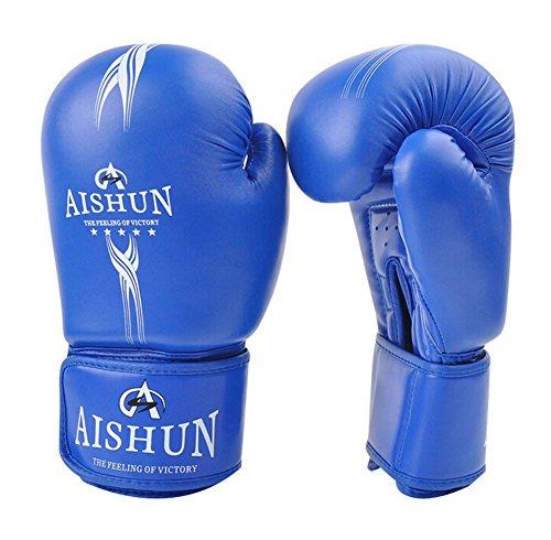Komfortable Erwachsene Boxen Martial Arts Trainingshandschuhe blau, 10 Ounce