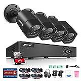 ANNKE Überwachungssystem CCTV Videoüberwachung 4CH 720P DVR Recorder mit 1TB Überwachungs Festplatte plus 4 Überwachungskameras 1500 TVL wetterfest Nachtsicht 20-30 Meter für innen und außen Überwachung