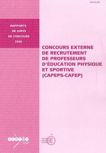 Concours externe de recrutement de professeurs d'éducation physique et sportive (CAPEPS-CAFEP)
