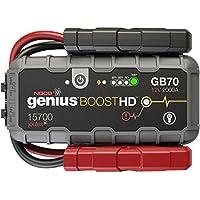 NOCO GB70Genius Ultrasafe Démarreur/Chargeur De Batterie Lithium - 12 V, 2000 Amp