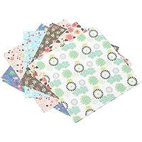 weimay 24pcs Craft–Papel para origami diferentes flores Washi plegable papel grúa decoración del hogar fiesta DIY de regalo, 15x 15cm) (color al azar)