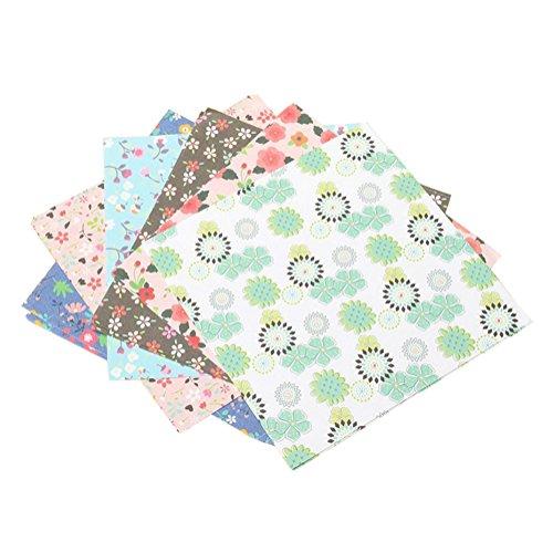 Da.Wa 60 Blätter Doppel Einseitig Farbe Origami Papier für Kunst und Handwerk Projekte 4 Muster, 15x15cm (E)