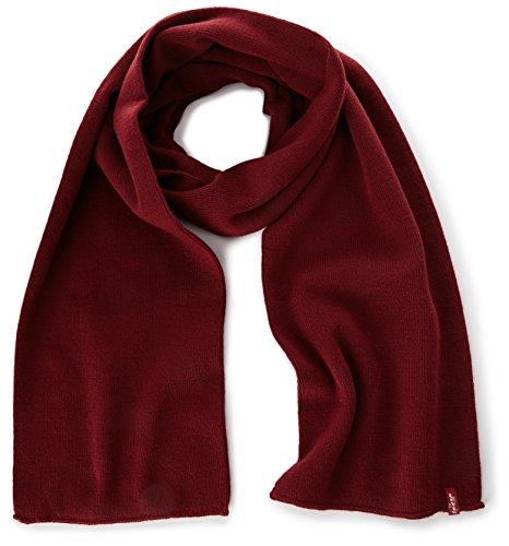 Levi's Limit Scarf Bufanda, Rojo Bordeaux 83, Talla única Talla del fabricante: UN para Hombre