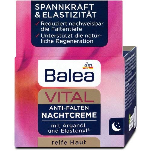 Balea Vital Anti-Falten Nachtcreme, 3er Pack (3 x 50 g)