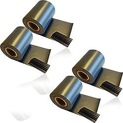 4 x HSM Zaun Sichtschutz Blende Zaunfolie 19cm x 35m aus hochwertigem PVC als Windschutz inkl. 20 Befestigungsclips ANTHRAZIT