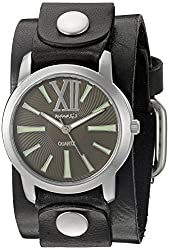 Nemesis Women's 065GBKG Roman Series Analog Display Japanese Quartz Black Watch