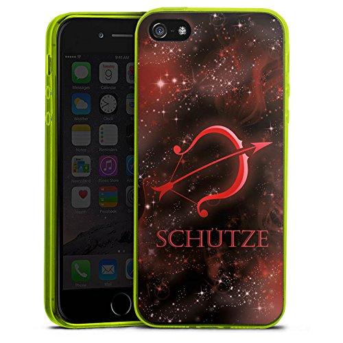 one 5s Slim Case transparent neon grün Silikon Hülle Schutzhülle Sternzeichen Bogen Pfeil ()