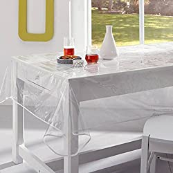 Mantel de hule transparente en PVC, 150 x 200