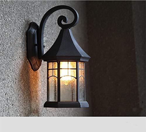 SHNHJ Apliques de exterior Lámpara de pared al aire libre del ático del pasillo de la luz del jardín de la luz al aire libre impermeable del balcón