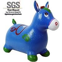 Caballo de brincar Caballo saltos Sitztier con Sonido de caballo hasta 50 kg en rojo o azul - Caballo de brincar azul