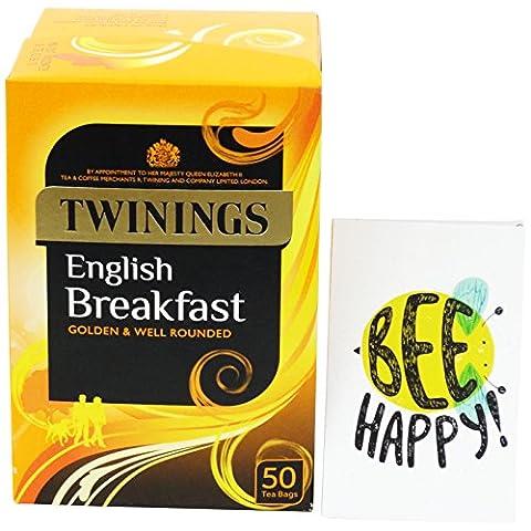 TWININGS - Thé English Breakfast - 50 Sachets - Twinings Colazione Tè