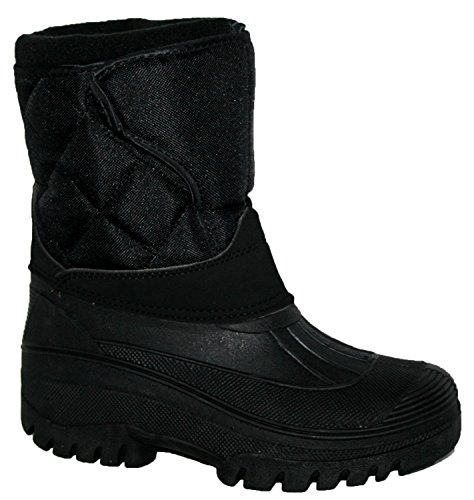 Neue Damen Reiten Yard Wasserdicht stabile Walking Regen Schnee Winter Ski Warm Farm Mucker Boots - negro/velcro