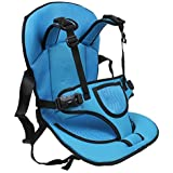 Inditradition Multi-Functional Baby Car Seat Cushion with Safety Belt | for Infants & Kids, 0.6 to 4 Years (Blue)