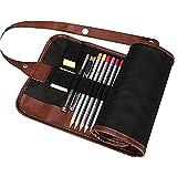 LAAT Crayons de Couleur avec Rouleau Jusqu'à étui à Crayons Set de 48 Couleurs Assorties Couleurs d'eau Capables pour les Enfants et les Adultes