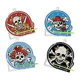 cama24com Piraten-Party Flipper Geschicklichkeitsspiele Pinball 12 Stück Mitgebsel Gastgeschenke mit Palandi® Sticker
