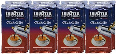 Lavazza Crema e Gusto Ground Coffee 250 g (Pack of 8)