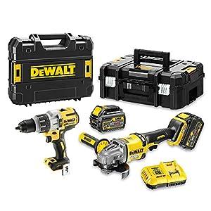 DEWALT DCK2055T2T-QW DCK2055T2T-QW-KIT XR FLEXVOLT = Taladro Percutor 18V XRP + Amoladora 125mm 54V + 2 baterías 54V/18V…