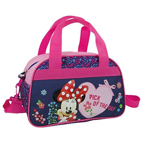 Maxi & Mini - Borsa da viaggio/sport o per il tempo libero, motivo: Minnie Disney, adatta come bagaglio a mano