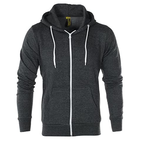 Raiken Apparel Flex Fllece Hoody Mens-Charcoal-S