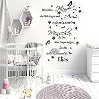 Wandschnörkel® Aufkleber HM~AA162 Da werden Hände sein, die Dich tragen...Spruch Wandtattoo Kinderzimmer Baby Mädchen Jungen , personalisiert