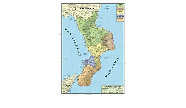Regione Calabria Cartina Politica.Latin Adancime Varietate Cartina Politica Calabria Amazon Mariacastrojato Com