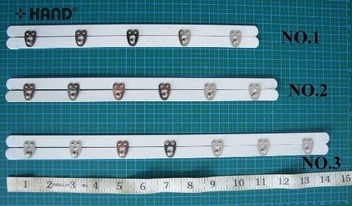 Nr.1-5 Schlösser Korsett Baskenverschluss-Gerade 27.5cm -
