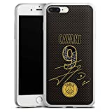 DeinDesign Coque Slim Compatible avec Apple iPhone 7 Plus Coque Ultra Fine Coque en Silicone Ultra Fine Paris Saint-Germain Cavani Produit sous Licence Officielle PSG