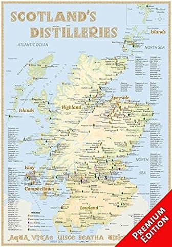 Whisky Distilleries Scotland - Poster 70x100cm Premium Edition: The scotisch