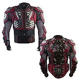 POSSBAY XL Motorradjacke Protektorenjacke Brustpanzer Ski Snowboard Motocross Quad BMX Protektoren Jacke Rot